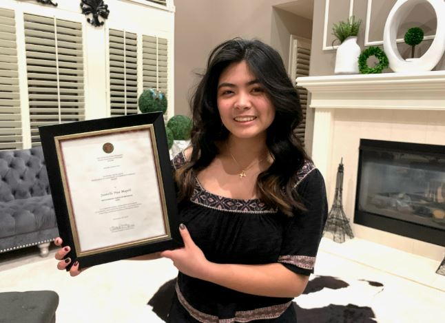 Jeanelle Pua Mapili Outstanding Youth in the US