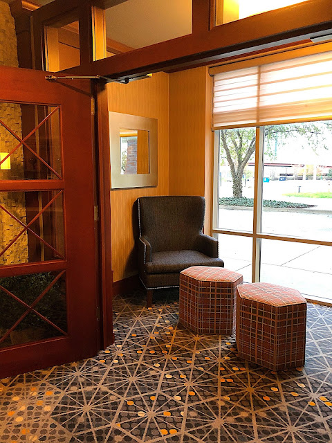 Lovely little alcove for reposing at the Radisson on John Deere Commons in Moline, IL.