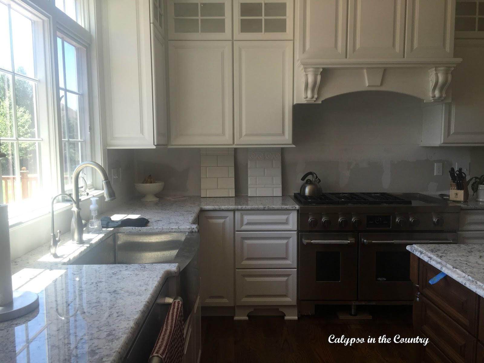 White Kitchen Renovation - choosing a backsplash