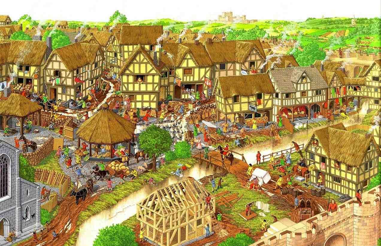 City 1500s England Map