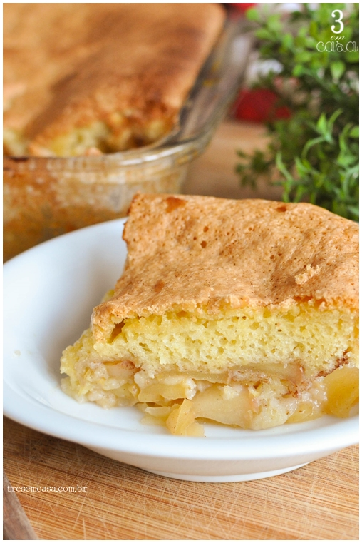 bolo de maçã rápido como fazer