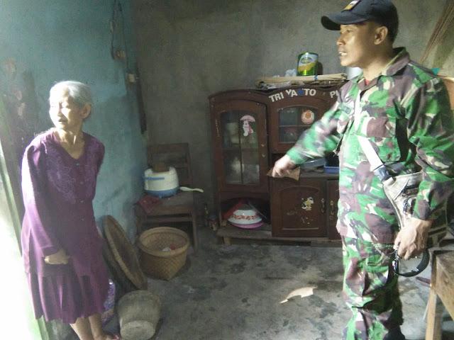 Jambanisasi TMMD Reg 105 Kodim Klaten Menyasar Ke rumah Mbah Hadi