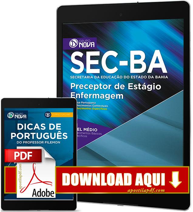 Apostila SEC BA 2017 PDF Download Preceptor de Estágio Enfermagem Grátis Curso Online