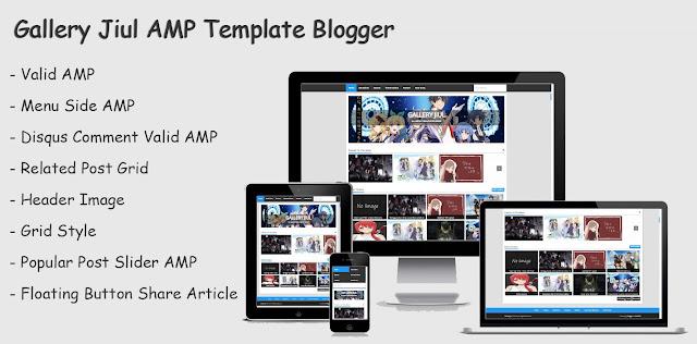 Gallery jiul AMP Template Blogger