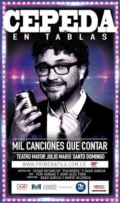 """Poster CEPEDA EN TABLAS """"Mil Canciones Que Contar"""""""