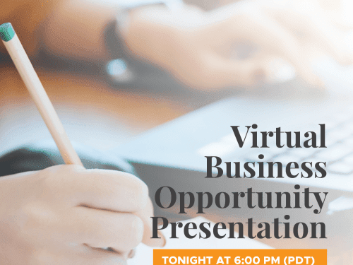 """Don't Forget to Join us Tonight! Weekly """"Virtual Business Opportunity Presentation"""" 07.06.2020"""
