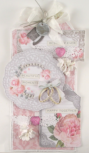 Stamperia Wedding Paper Idea-Ology Typed Token Sizzix Crochet Thinlits for The Funkie Junkie Boutique