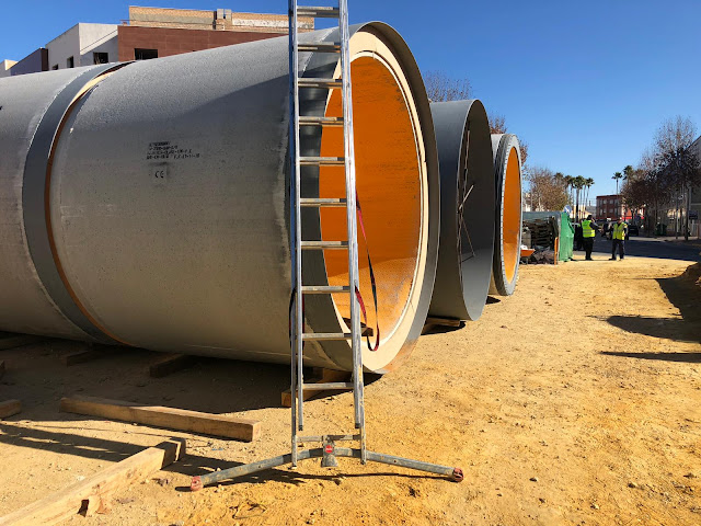 Obra de colectores en mina. Construcción de arquetas y obras de pocería en Guadalajara