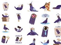 Inilah Stiker Burung Ungu yang Lagi Heboh di Facebook