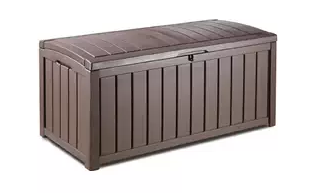 Keter Glenwood Plastic Deck Storage Container Box Outdoor Patio Furniture 101 Gal - Brown, Plastic garden Storage Box, Garden Storage Box, Garden Storage Boxes, Plastic Storage Boxes, Garden Boxes, Plastic Deck Storage Container Box, Keter, Suncast, Rubbermaid, Deck Boxes, Plastic Deck Boxes,