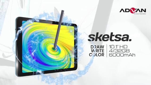 Tablet 1 jutaan - Advan Tab Sketsa