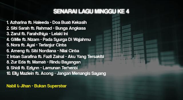 Senarai Lagu Dan Penyanyi GegarVaganza 3 6 November 2016