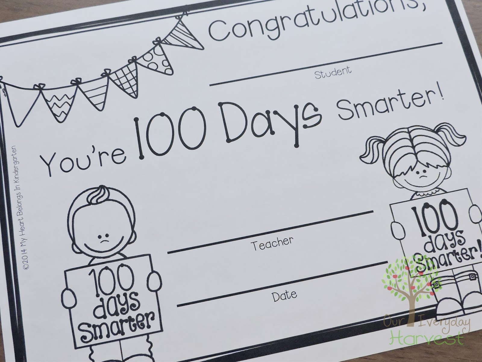 Celebrating The 100th Day Of Homeschool Kindergarten Activities Our Everyday Harvest