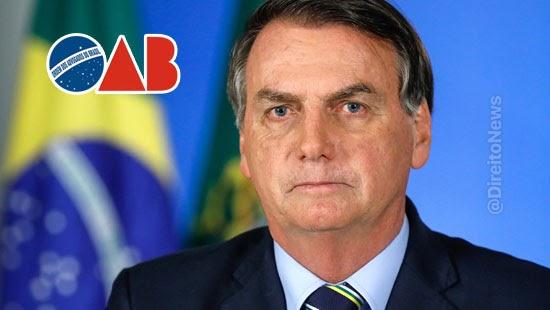 oab sessao extraordinaria discutir impeachment bolsonaro