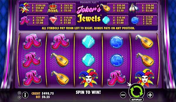 Main Gratis Slot Indonesia - Jokers Jewels (Pragmatic Play)