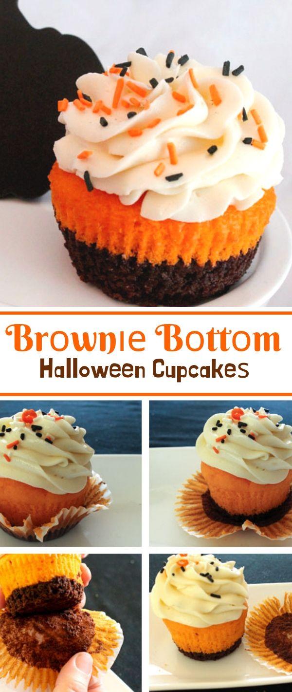 Brоwnіе Bоttоm Halloween Cuрсаkеѕ #Brоwnіе #Bоttоm #Halloween #Cuрсаkеѕ Dessert Recipes Easy, Dessert Recipes Healthy, Dessert Recipes For A Crowd, Dessert Recipes Peach, Dessert Recipes Simple,