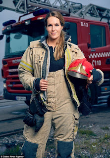 Sexy instagram sensation female firefighter