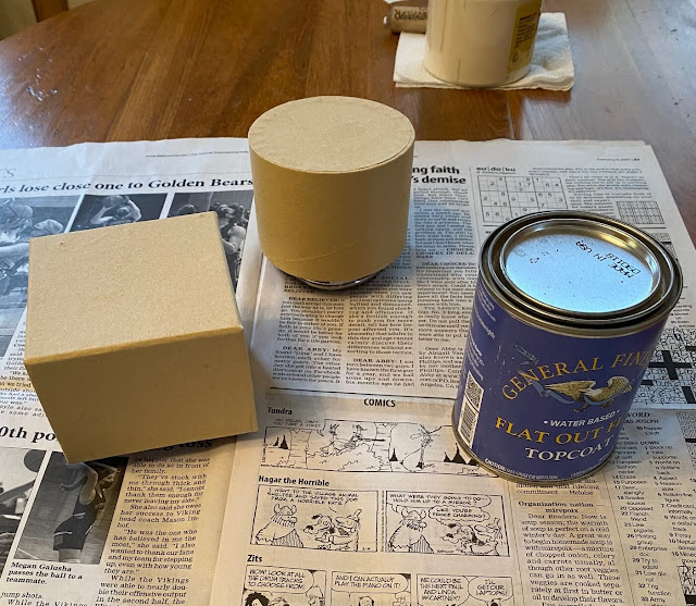 Photo of box bottoms and matte polyurethane