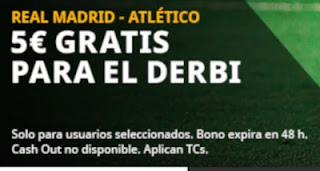 betfair promo 5 euros gratis derbi Real Madrid vs Atletico 12-12-2020