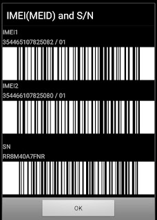 IMEI number and serial number of Samsung A50