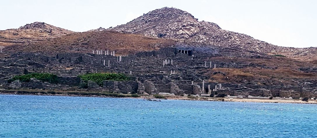 Delos Island Hill Side View
