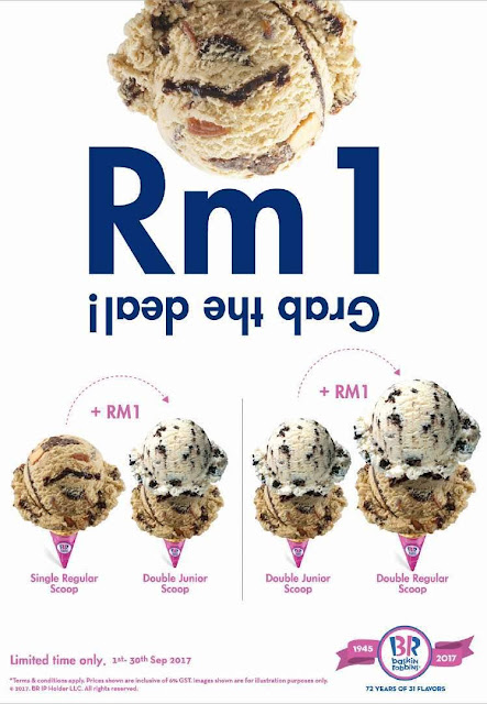Baskin-Robbins Ice Cream Scoop RM1 Deal