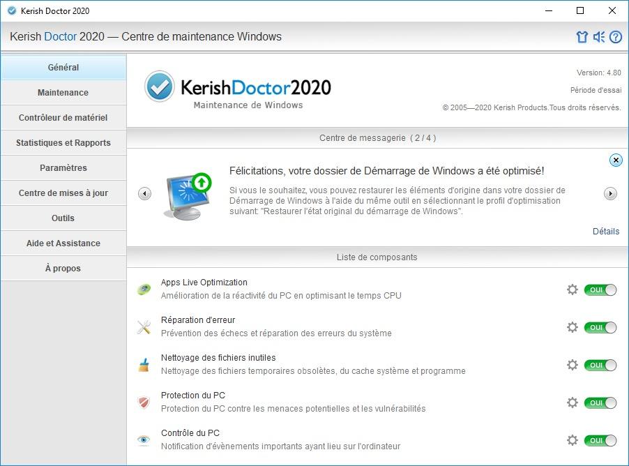 تحميل برنامج Kerish Doctor 2020 v4.80 للصيانة التلقائية للنظام