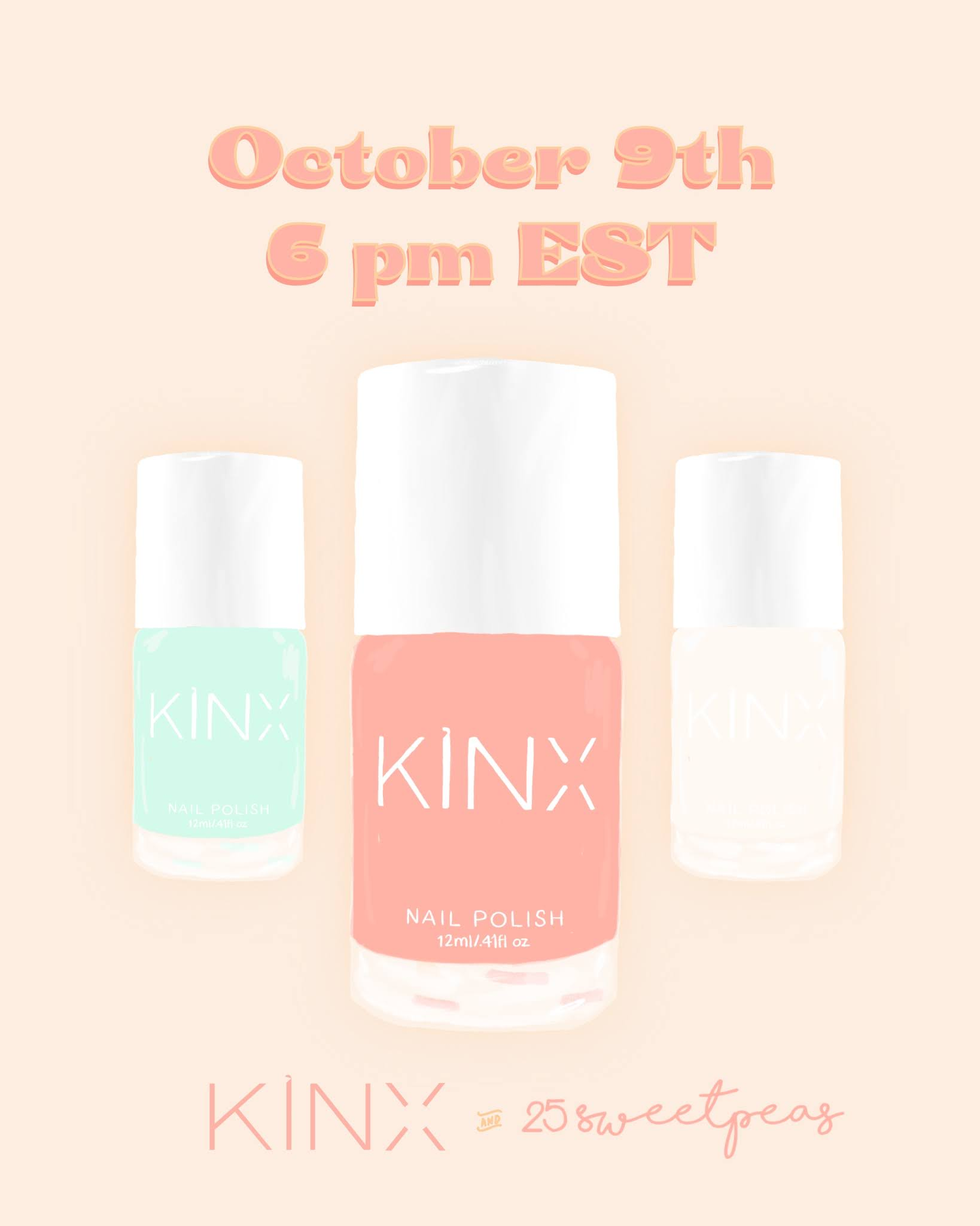 25 Sweetpeas Polish Release with Kinx Active