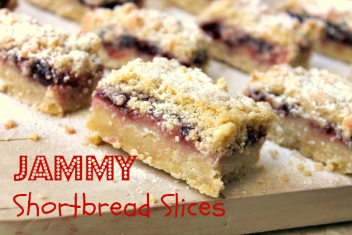Jammy Shortbread Slices