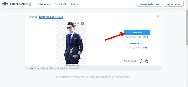 Cara nak buang background gambar (remove background)