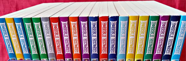 Horrible Histories book tops