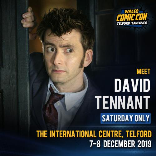 David Tennant - Wales Comic Con fan convention - Saturday 7th December 2019
