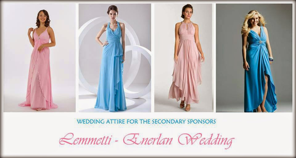 Principal Wedding Sponsor Gowns: A Journey Of Our Love: Wedding Attire For Our Entourage