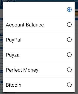 Pilih rekening online deposit