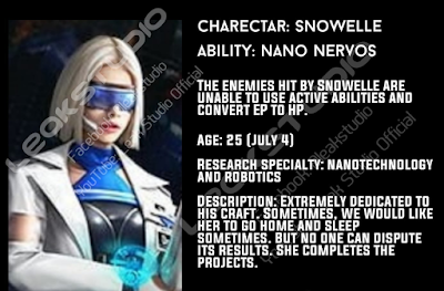 Free Fire New Character Snowelle's