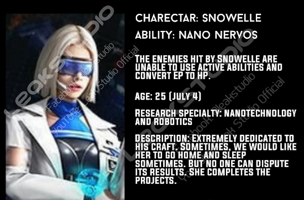 All you need to know about Snowelle's Free Fire OB25 New Character