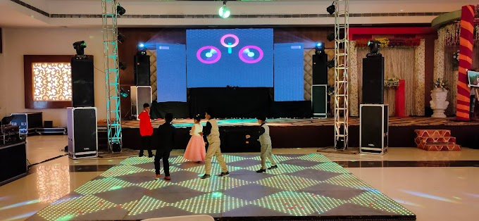 Dj System at Royal Billa Day show 2 sharp light ,Led Wall & Led Floor
