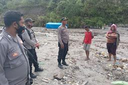 Polsek Waeapo Sisir Aktifitas Tambang Emas Ilegal di Sungai Anahoni dan Gunung Botak