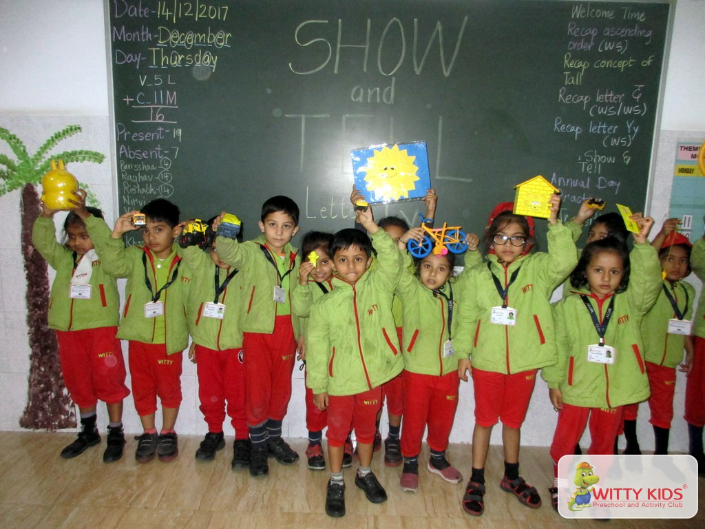 the top of the World Show and Tell Activity conducted at