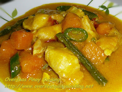 Pinoy Fish Curry with Kalabasa