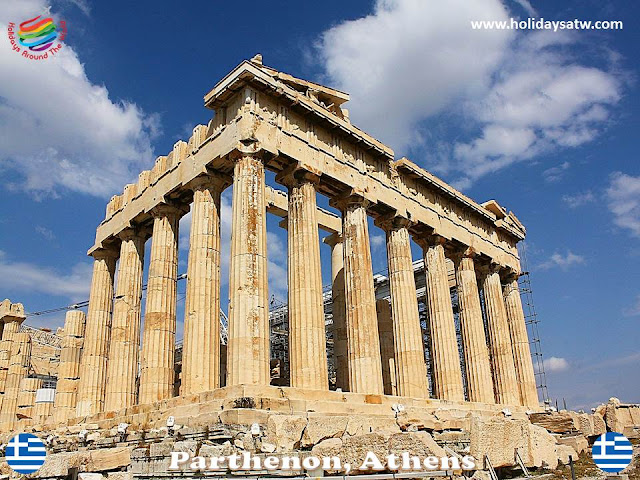 The most famous tourist attractions in Athens, Greece