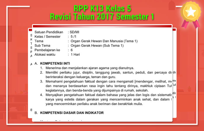 RPP K13 Kelas 5