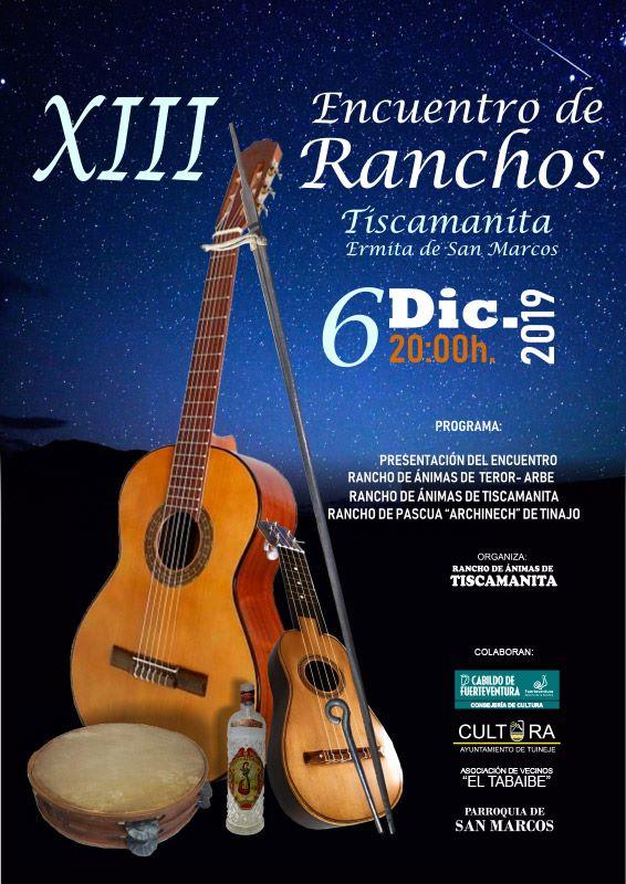 Fuerteventura.- El XIII Encuentro de Ranchos regresa el viernes 6 de diciembre a Tiscamanita