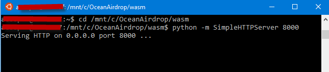 WebAssembly and C# ~ Ocean Airdrop