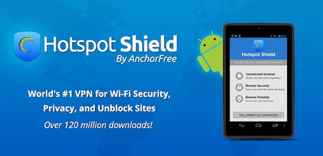 Aplikasi VPN Android Terbaik Hotspot Shield