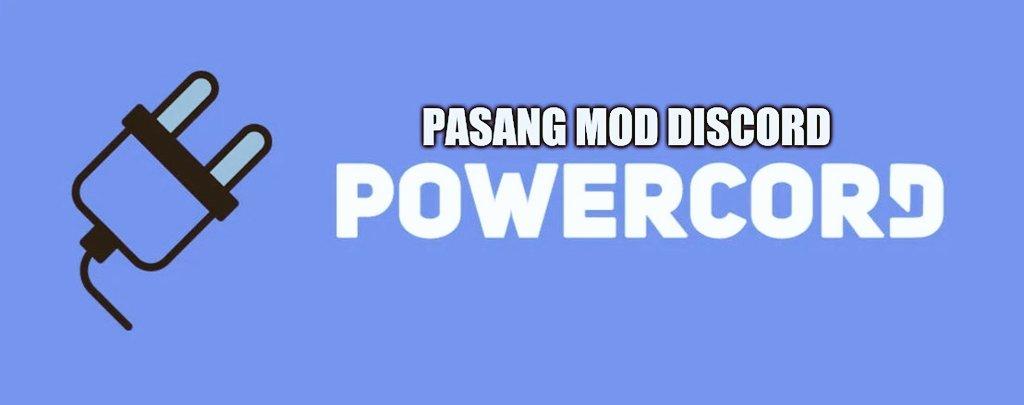 cara memasang powercord di discord pc laptop