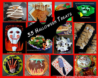 Halloween: 35 Baking In A Tornado Recipes | Graphic designed by and property of www.BakingInATornado.com | #MyGraphics #Halloween