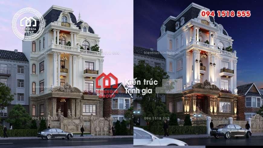Mẫu biệt thự 4 tầng tân cổ điển đẹp sang lộng lẫy ở Hà Nội - Mã số BT2820