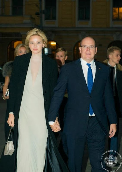 Prince Albert and Princess Charlene attended the 40th anniversary celebrations of the Ambassadors Club in Monaco