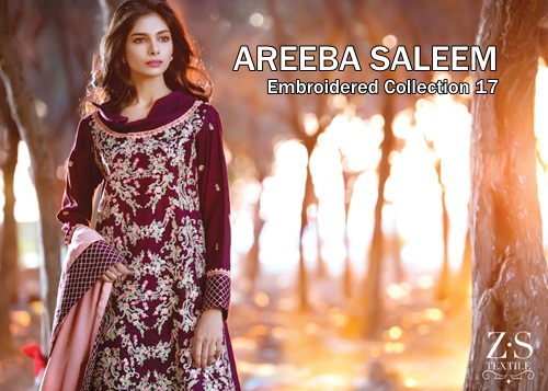 d9c438b9f0 Areeba Saleem Winter Collection 2017 Embroidered Series | She-Styles |  Pakistani Designer Dresses - Fashion Weeks - Lawn Collection